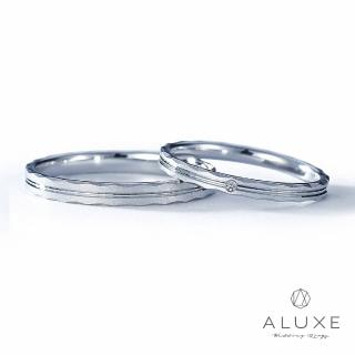 【A-LUXE 亞立詩】The vow 鉑金 結婚戒指-男女對戒