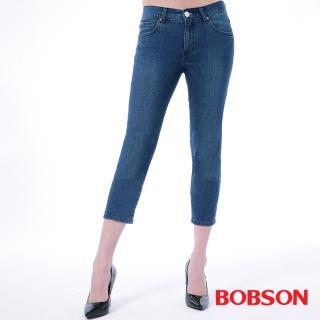 【BOBSON】女款膠原蛋白七分褲(205-53)