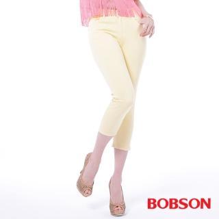 【BOBSON】女款高腰膠原蛋白彩色七分褲(222-31)