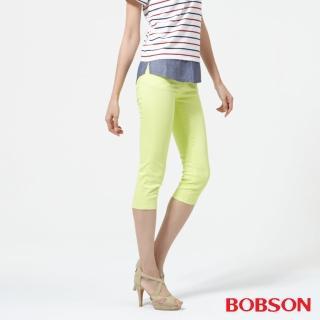 【BOBSON】女款低腰膠原蛋白彩色七分褲(223-30)