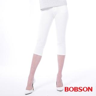 【BOBSON】女款低腰膠原蛋白彩色七分褲(223-80)