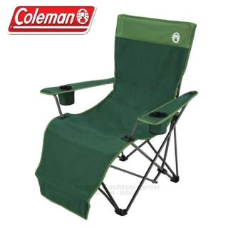【美國 Coleman】超高品質 新輕便躺椅. 合金大型折合休閒椅.戶外椅.露營椅.折疊椅(CM-0499 綠)