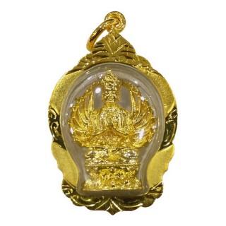 【十相自在】4.2公分 小佛像/法像 佛龕掛墜吊飾-金色(準提佛母)