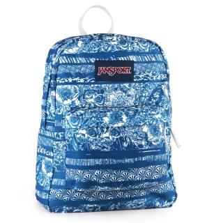 【JanSport】校園背包-SUPER BREAK(夜空花漾)