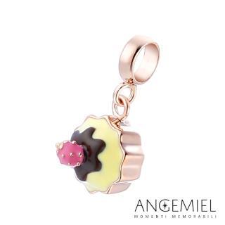 【Angemiel安婕米】925純銀珠飾 Dream童話系列 草莓杯子蛋糕 吊飾