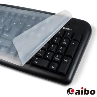 【aibo】通用型加大版 鍵盤果凍膜(標準型鍵盤適用)