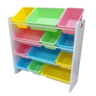 【孩子國】粉彩兒童四層玩具收納櫃