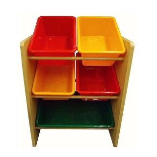 【孩子國】兒童玩具木質收納架(#5506A)