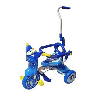 【孩子國】兒童可後控摺疊豪華三輪車(藍色)