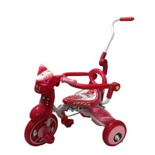 【孩子國】兒童可後控摺疊豪華三輪車 粉紅色