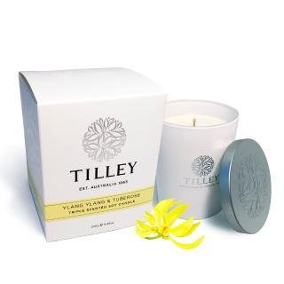 【Tilley百年特莉】伊蘭&晚香玉香氛大豆蠟燭(240g)