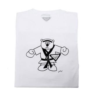 【PRADA】奧運系列 跆拳道熊寶寶圖騰 T- shirt(白UJM501-WHI-S)