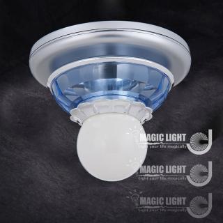 【光的魔法師 Magic Light】藍水晶吸頂 (單燈) 烤漆底盤