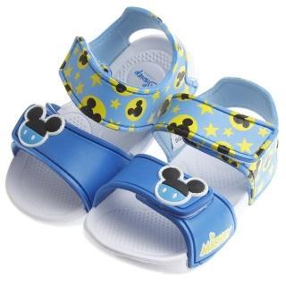 【布布童鞋】Disney迪士尼米奇藍色超輕量速乾涼鞋(MIS854B)