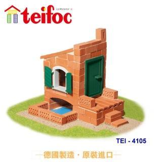 ~德國teifoc~益智磚塊建築玩具~溫馨小別墅^(TEI4105^)