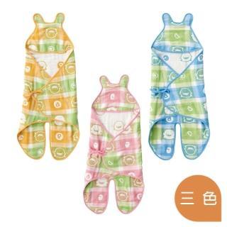 【黃色小鴨PiyoPiyo】六層立體紗造型包巾(六層紗)