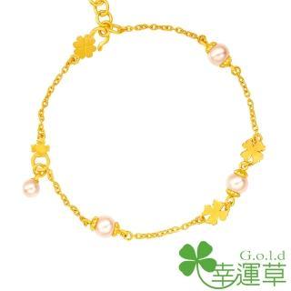 【幸運草clover gold】綺幻花語 水晶珍珠+黃金 手鍊