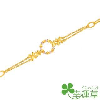 【幸運草clover gold】幸運花園 鋯石+黃金 手鍊