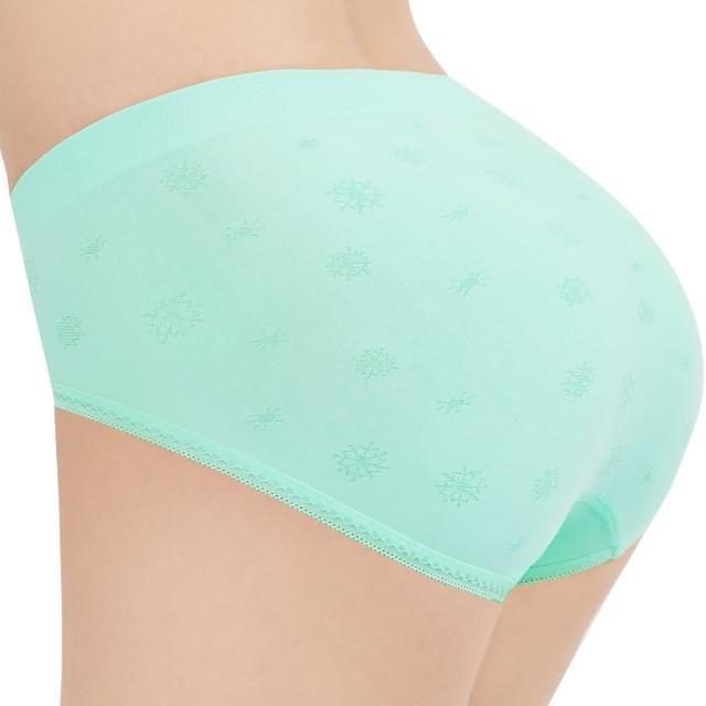 【思薇爾】彈戀愛系列M-XL提花中腰三角無縫內褲(春漾綠)