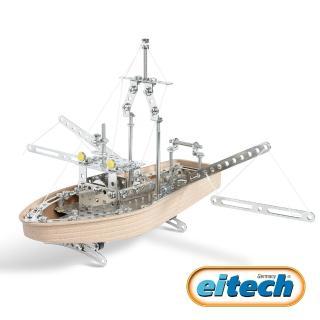 【德國eitech】益智鋼鐵玩具-3合1帆船(C20)