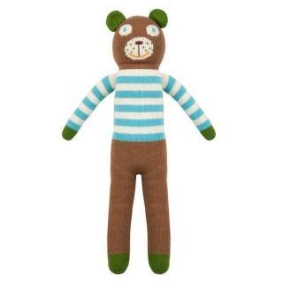 【美國 Blabla Kids】手做純棉針織娃娃18吋 - 小熊貝瑞 Bear Berry(TM160309041)