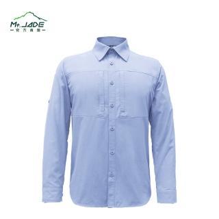 【Mt.JADE】男款Quartz極輕吸濕快乾兩用長袖襯衫(肯塔基藍)