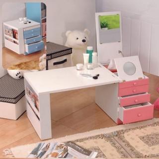 ~C  B~第 折疊和室掀鏡化妝書桌^(三色^)