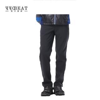 【OFFBEAT】男款Anti-UV俐落彈性休閒長褲(黑色)