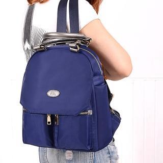 【Acorn*橡果】韓版學院時尚牛津布防水後背包6540(藍色)