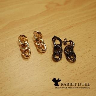 【RABBIT DUKE】個性經典金屬鍊條設計耳環