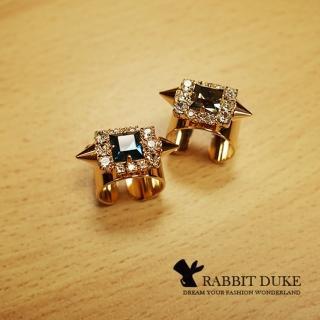 【RD 兔子公爵】經典歐美風格 個性超大寶石龐克極亮寬版戒指