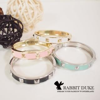 【RD 兔子公爵】經典歐美風格 個性可愛金屬繽紛色鉚釘手環