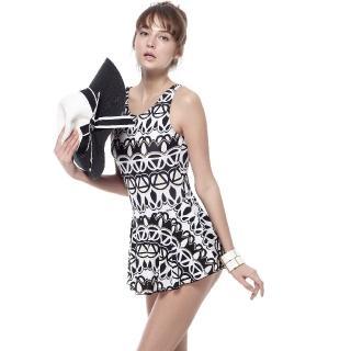 【SAIN SOU】泡湯游泳SPA大女連身裙泳裝(附泳帽A98647)