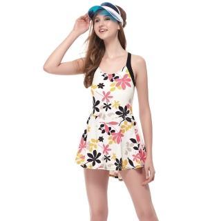 【SARBIS】泡湯SPA大女連身裙泳裝(附泳帽B98643)
