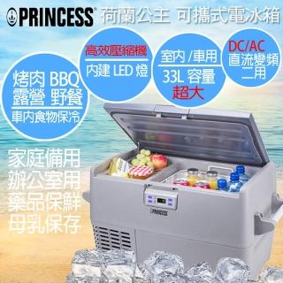 【PRINCESS荷蘭公主】33L智能車用/家用行動電冰箱(贈燒烤機超值組)