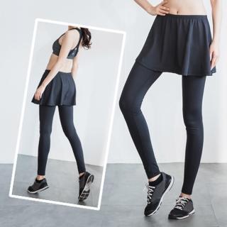【LEAP】兩件式機能型運動緊身褲裙(S-XL)