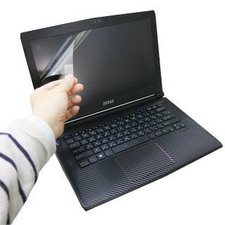【EZstick】MSI GS40 6QE 系列專用 靜電式筆電液晶螢幕貼(可選鏡面或霧面)