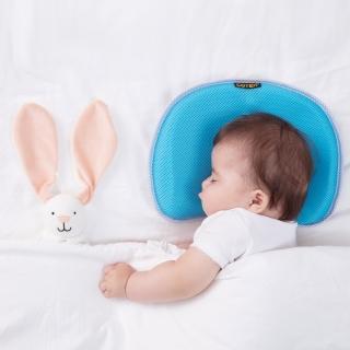 【COTEX】C-air聰明寶貝涼感嬰兒枕(塑頭型 護頭型 防? 可機洗 安全)  COTEX 可透舒