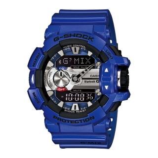 【CASIO 卡西歐 G-SHOCK 系列】新色上市_行動藍芽裝置連結_雙顯男錶(GBA-400)
