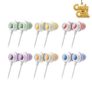 【Candy Crush】糖果美眉 入耳式音樂耳機麥克風(六色)