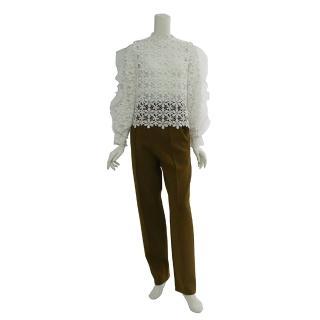 【SELF-PORTRAIT】時尚經典款長褲(橄欖色)