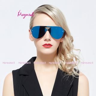 【MEGASOL】電影明星同款UV400偏光太陽眼鏡(卡地亞手工同款MS0518BL)