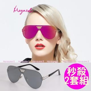 【MEGASOL】電影明星同款UV400偏光太陽眼鏡(卡地亞手工同款秒殺2套組MS0518)