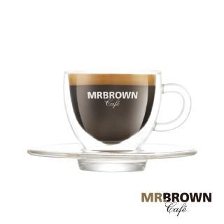 【伯朗】ESPRESSO雙層玻璃杯組 杯+盤