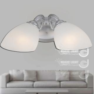 【光的魔法師 Magic Light】歐式鄉村牛角雙壁燈 時尚銀 (安全燈具)