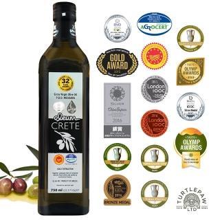 【希臘OLEUM CRETE】奧莉恩頂級初榨橄欖油1瓶(750毫升)