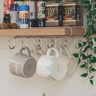 【樂活主義】不鏽鋼吊掛層板馬克杯架