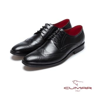 【CUMAR】英倫紳士 經典紳士皮鞋(黑色)