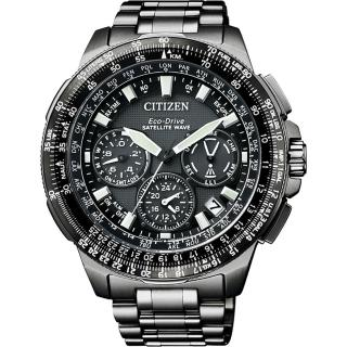 【CITIZEN】光動能GPS衛星對時鈦金屬限量腕錶-黑x47mm(CC9025-51E)