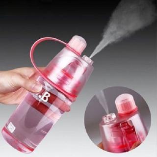 【快速出貨】創意戶外運動補水保濕美容噴水隨手杯噴霧水降溫水瓶600ML 水壺(J2380)